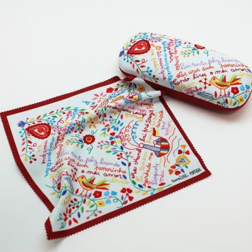 set  pano e caixa lenço namotrados